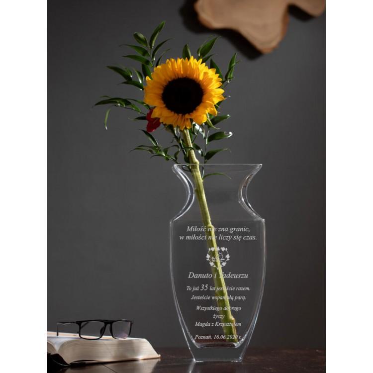 wazon z grawerem rocznica ślubu